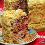 Торт «Наполеон» с кремом пломбир